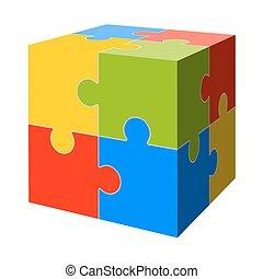 colored puzzle cube