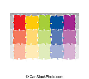 colored puzzle pattern