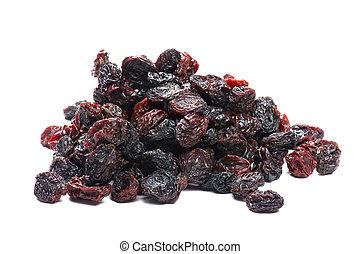 Colored raisin - object on white - dry food raisin