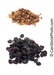 Colored raisin on white - object on white - dry food raisin