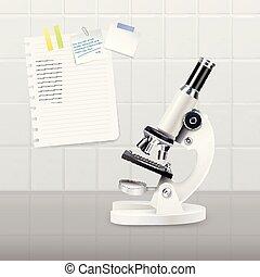 Colored Realistic Microscope Composition