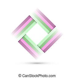 Colored Rectangle Symbol on white background - corporate...