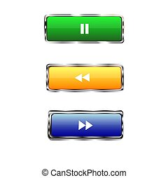 colored rectangular buttons