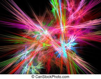 Colored red abstract fractal effect light background