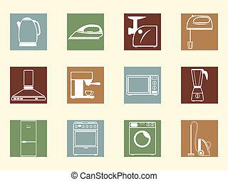 Colored retro icons