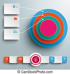 Colored Ring in Rings Infographic Rectangles PiAd