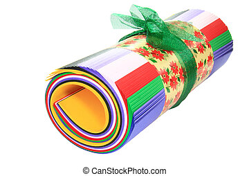 colored roll of paper