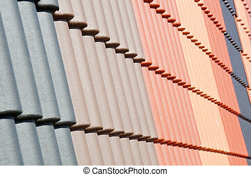 roof tiles - Colored roof tiles as a background