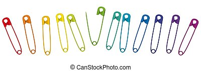 Colored Safety Pins Collection Colorful Clasp Set