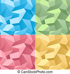 Colored Seamless 3d Crumpled background