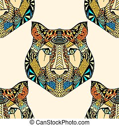 Tiger pattern. Vector illustration
