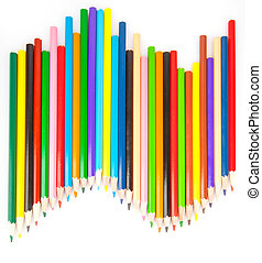 Colored sharp pencils