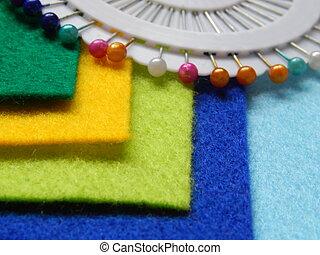 Colored sheets felt
