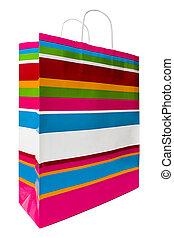 Colored Shopping Bag - Colored shopping bag on a white...