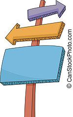 Colored Sign Boards - Board Illustration of Multi-colored...