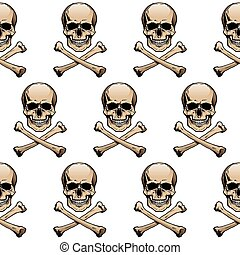 Colored skulls background