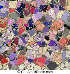 colored slate pattern - texture of bright slate stone mosaic...