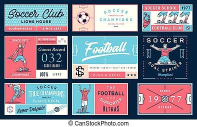 Colored soccer badge set number 2