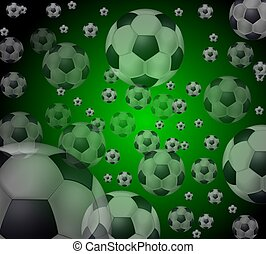 colored soccer balls background