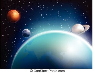 Colored Space Background