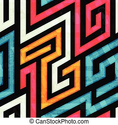 colored spiral seamless pattern