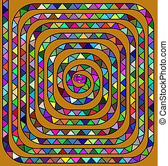 colored spiral snake