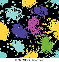 colored spots graffiti beautiful seamless abstract background