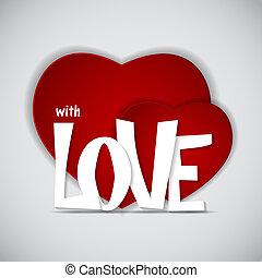 St Valentines Day Greeting Card Illustration