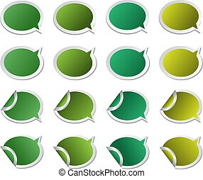 colored stickers speech bubbles