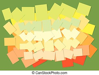 Colored sticky papers