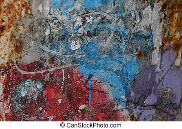 colored stone texture of dirty paint on old wall