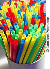 colored straw