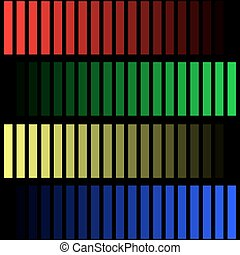 colored stripes on a black background