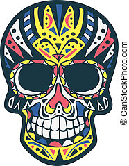 colored sugarskull