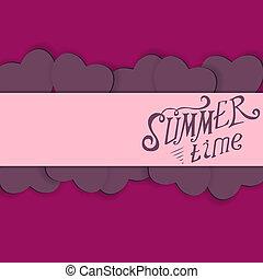 Colored Summer Time  Background Illustration.