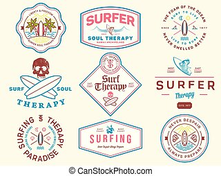 Colored surf badges vol. 1