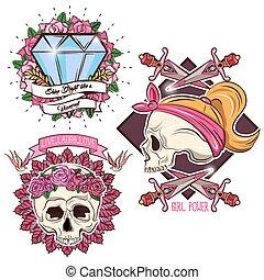 Colored Tattoo Set