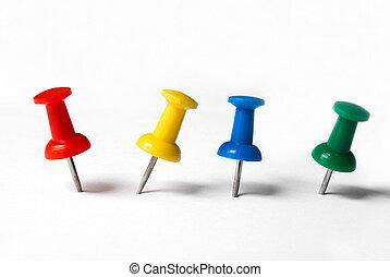 Colored Thumbtacks - thumbtacks to remember things to do ...