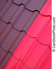 Colored tin roof structure 1