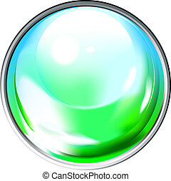 Colored transparent sphere. This image is a vector...