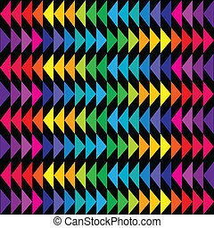 Colored triangle background in bright tones