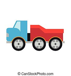 Colored truck toy icon