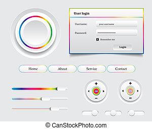 Colored UI Controls Web Elements