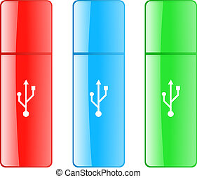 Colored USB flash drive