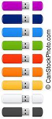Colored USB flash