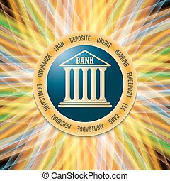 Colored vector abstract background and theme of banking