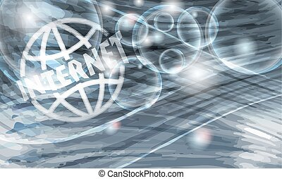 Colored vector background with abstract pattern and transparent globe
