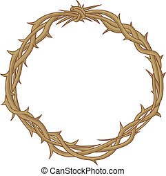 Colored vector illustration of the Crown of thorns