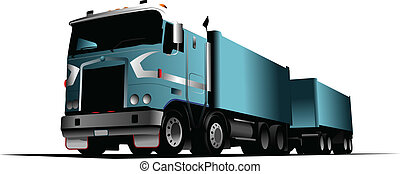 Colored Vector illustration of truck