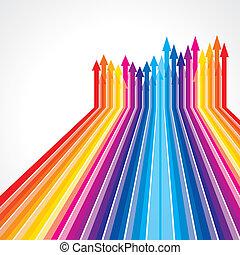 Colored  vector upward arrows - Colored  vector arrows
